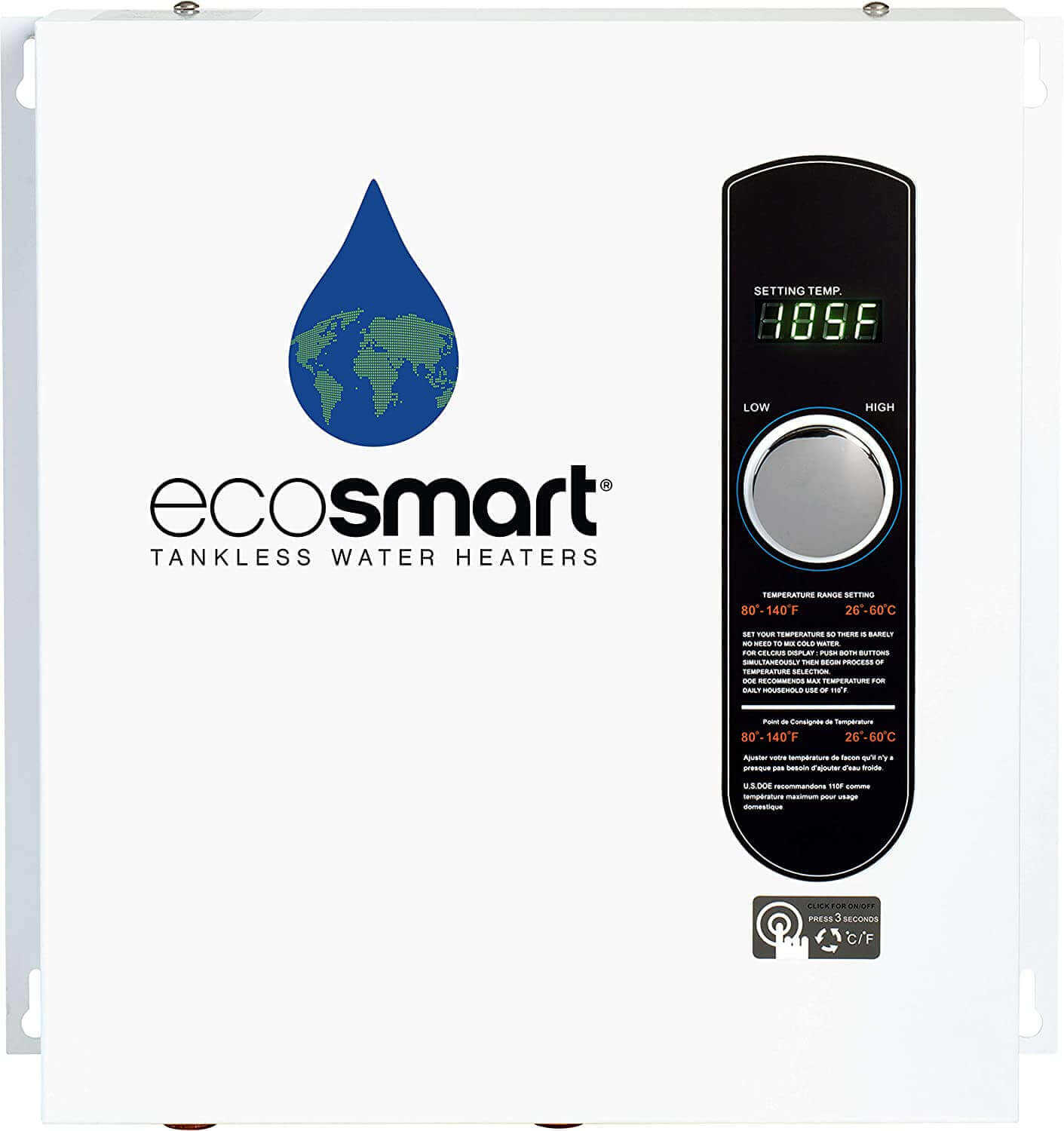 EcoSmart ECO 27 Water Heater - Best Rated Electric Tankless Water Heater